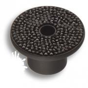 STONE16/N-SW/N Ручка кнопка c чёрными кристаллами Swarovski, цвет покрытия - чёрный 16 мм