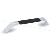 Ручка-скоба 160мм хром/черный глянец UA850430/160