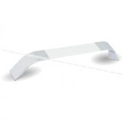 Ручка-скоба 160мм хром/белый глянец UA850440/160