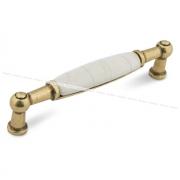 Ручка-скоба 96мм бронза состаренная/керамика состаренная UP214AB/MLK