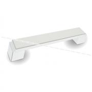RITTO Ручка-скоба 128мм белый глянец с шлиф. гранями US48R16/128