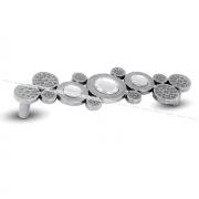 VULCAN Ручка-скоба 128мм серебро состаренное с кристаллами Сваровски VLC.128K.AA