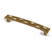 Ручка-скоба 128мм бронза полированная с кристаллами Сваровски WMN.694.128.KR4G