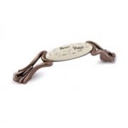 Ручка-скоба 96мм медь состаренная/керамика Paris WMN.93.01.Q4.096.C1
