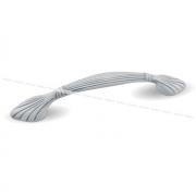 Ручка-скоба 96мм белый/серебро винтаж WMN.503.096.00V4