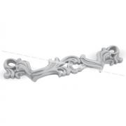 Ручка-скоба 96мм белый/серебро винтаж WMN.631.096.00V4
