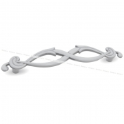 Ручка-скоба 96мм белый/серебро винтаж WMN.634.096.00V4