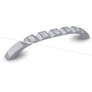 Ручка-скоба 128мм хром с кристаллами Сваровски WMN.667.128.KR02