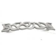 Ручка-скоба 128мм белый/серебро винтаж WMN.688.128.00V4