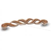 Ручка-скоба 128мм cлоновая кость/золото винтаж WMN.745.128.00T5