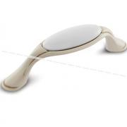 Ручка-скоба 96мм cлоновая кость/золото винтаж керамика WMN.77.01.00.096.T5