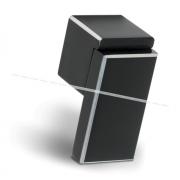 RITTO Ручка-кнопка черный глянец с шлиф. гранями WP48APB