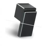 RITTO Ручка-кнопка черный матовый с шлиф. гранями WP48APC