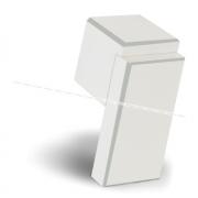 RITTO Ручка-кнопка белый глянец с шлиф. гранями WP48R16