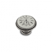 Ручка-кнопка D35мм серебро состаренное/керамика Watch WPO.77.01.Q1.000.E8
