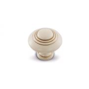 Ручка-кнопка D30мм cлоновая кость/золото винтаж WPO.2031.030.00T5
