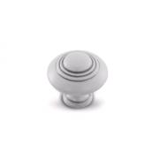 Ручка-кнопка D30мм белый/серебро винтаж WPO.2031.030.00V4