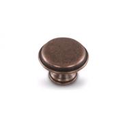 Ручка-кнопка D30мм медь состаренная WPO.6000.030.00C1