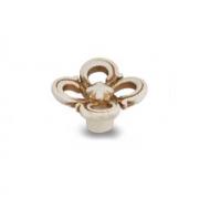 Ручка-кнопка cлоновая кость/золото винтаж WPO.636.031.00T5