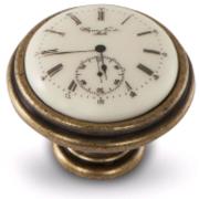 Ручка-кнопка D35мм бронза состаренная/керамика Watch WPO.77.01.Q1.000.D1