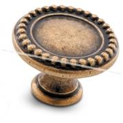 Ручка-кнопка D30мм бронза состаренная WPO.2030.030.00D1