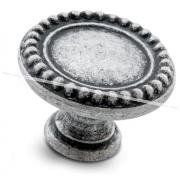 Ручка-кнопка D30мм серебро состаренное WPO.2030.030.00E8