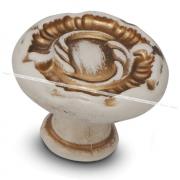 Ручка-кнопка D30мм cлоновая кость/золото винтаж WPO.2032.030.00T5