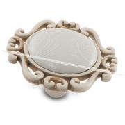 Ручка-кнопка cлоновая кость/золото винтаж, керамика белые узоры WPO.41.01.G9.000.T5