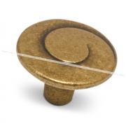 Ручка-кнопка D30мм бронза состаренная WPO.602.030.00D1