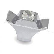 Ручка-кнопка хром с кристаллами Сваровски WPO.667.000.KR02