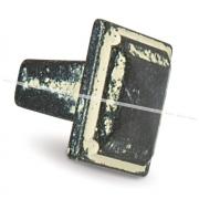 Ручка-кнопка серебро черненое/слоновая кость WPO.683.028.00C2
