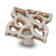 Ручка-кнопка cлоновая кость/золото винтаж WPO.688.000.00T5