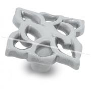 Ручка-кнопка белый/серебро винтаж WPO.688.000.00V4
