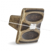 Ручка-кнопка бронза состаренная с кристаллами Сваровски WPO.694.000.KRD1