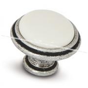 Ручка-кнопка D30мм серебро состаренное/керамика WPO.771.000.00E8
