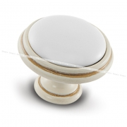 Ручка-кнопка D35мм cлоновая кость/золото винтаж керамика WPO.77.01.00.000.T5